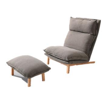 单人懒人沙发阳台休闲椅单人+脚踏
