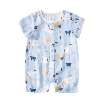 威尔贝鲁婴儿连体衣中小童春秋新生婴儿哈衣