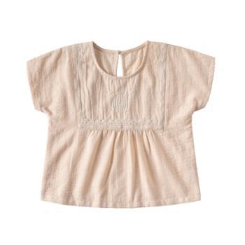 威尔贝鲁儿童女宝宝小女孩纯棉衬衫洋气