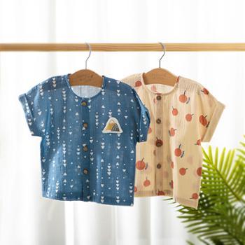 威尔贝鲁儿童衬衫小女孩衬衣男童衬衫纯棉洋气潮