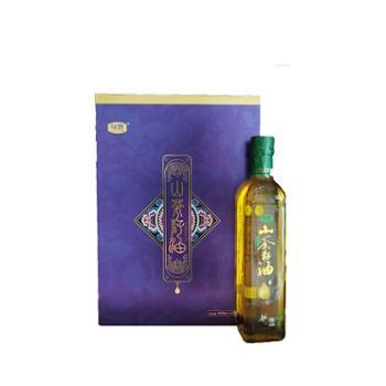 黔西南绿馋野生山茶籽油蓝色礼盒包装 500ml*2
