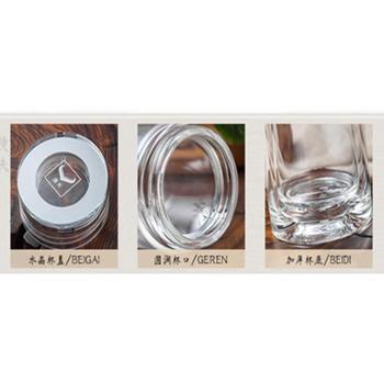 玻璃杯双层玻璃杯男女学生简约透明便携茶杯车载带盖随手创意杯子
