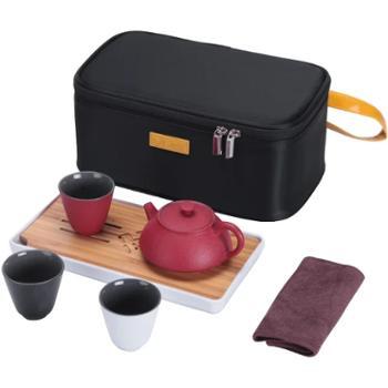 沏一杯茶-【陶三彩】便携式茶具旅行茶具