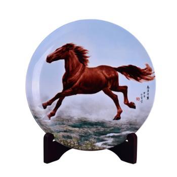 瓷博景德镇陶瓷装饰盘摆件志在千里瓷盘