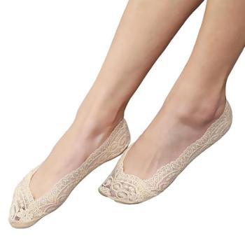 浪莎 女士船袜8双 防滑硅胶袜子夏季薄款浅口隐形袜冰丝短袜 船袜