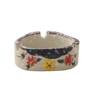 佰润居雪花釉陶瓷烟灰缸创意个性手绘日式风格摆件1只536691193825