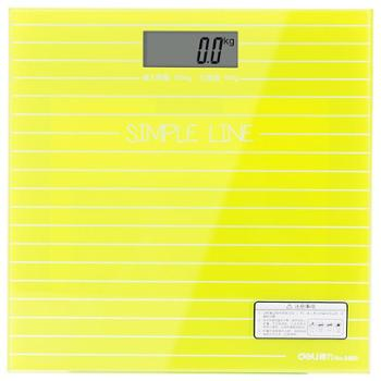 deli得力体重秤电子秤体重/健康秤/钢化玻璃/夜视屏成人家用电子称8880