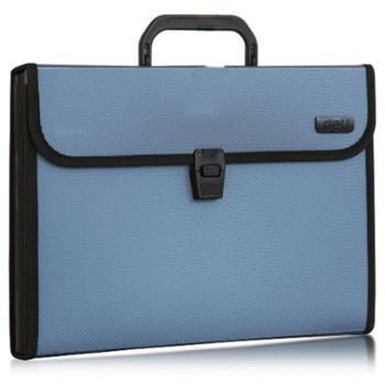 deli得力风琴包公文包捆边手提式风琴包5555粘扣风琴包手提包颜色随机
