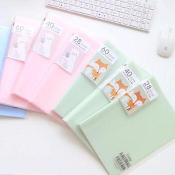 deli得力资料册60页A4侧入式彩色插袋卡通文件夹试卷夹颜色随机72361