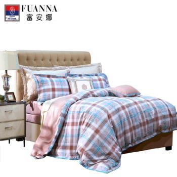 富安娜/FUANNA全棉印花床品四件套/雅致时光(1.8米床/2.0米床)