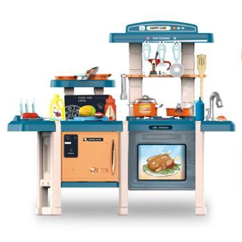 育儿宝儿童厨房玩具套装厨具餐具女孩益智过家家餐台厨台煮饭玩具703