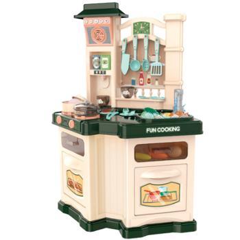 育儿宝儿童双面厨房玩具过家家套装仿真厨具做饭煮饭男女孩宝宝玩具
