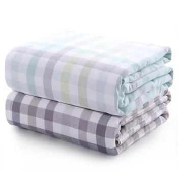 图强纯棉纱布毛巾被空调被全棉夏季可水洗单双人盖毯夏凉被空调毯