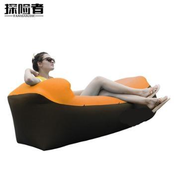 探险者户外网红懒人便携式充气沙发袋空气床垫躺椅免打气气垫床午休单