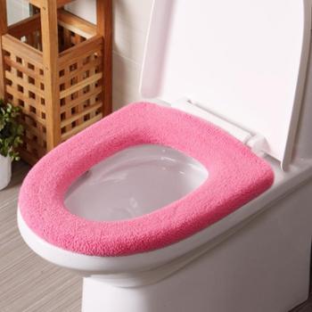 欧润哲4色装创意毛绒线保暖马桶坐厕圈垫冬季马桶垫舒适