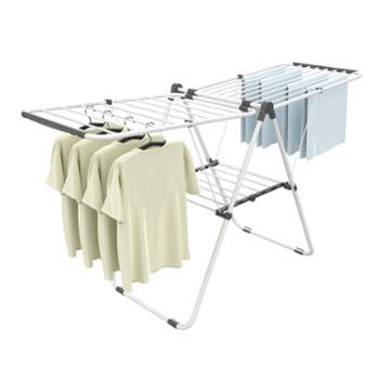 欧润哲横竖网翼折叠晾衣架家用阳台室内外落地晒被毛巾架
