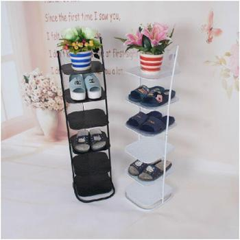 欧式铁艺六层拖鞋架门后创意收纳架多功能浴室鞋架