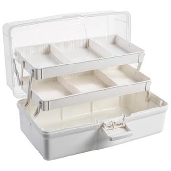 艾多药箱家用多层医疗药品药物收纳盒1只装