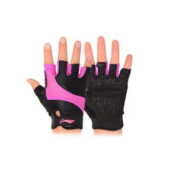 Lining/李宁运动健身半指手套女式防滑