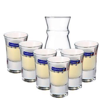 乐美雅烈酒杯34ml厚底6支装+分酒器