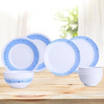 乐美雅钢化玻璃餐盘餐碗微波炉可用餐具套装-迪瓦丽星空餐具10件套