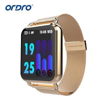 Q3彩屏智能手环实时心率测量血压血氧疲劳度检测信息推送运动钢带