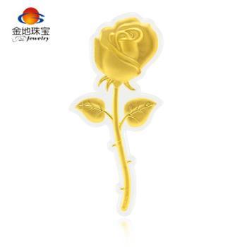 金地珠宝足金玫瑰花摆件