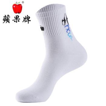 蘋果牌 男士棉质运动袜12双礼盒装 全棉