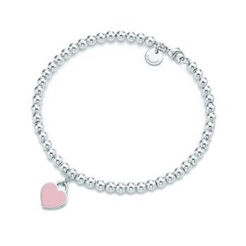 钻金森925纯银爱心圆珠串珠手链