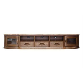 双叶家具双叶实木新中式家具实木电视柜全实木现代简约电视柜
