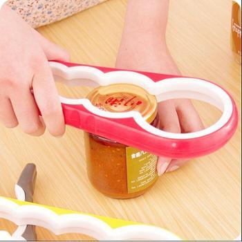 多功能四合一开罐器 家用厨房开罐头器 防滑拧瓶盖器 开罐头瓶器