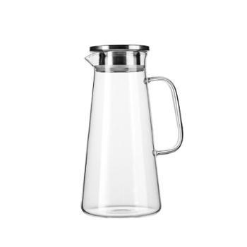 家用大容量冷开水瓶晒水杯鸭嘴装果汁扎壶防爆耐热高温玻璃凉水壶