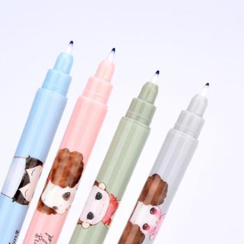 晨光消字笔魔笔钢笔复写笔小学生用一头可擦一头复写无痕可擦钢笔的消字笔双头魔擦纯蓝可爱消字复写笔