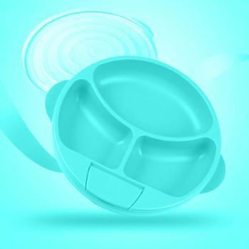 美国Bumkins婴幼儿童注水保温碗宝宝分格餐盘餐具辅食碗吸盘防摔