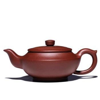 悦目清心 宜兴原矿紫砂壶 名家纯全手工家用泡茶壶茶具 紫泥汉扁