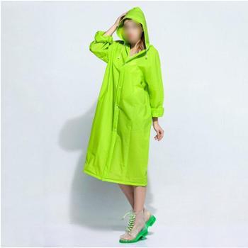 素良生活时尚EVA成人雨衣户外旅游徒步透明男女士装长款钓鱼雨披