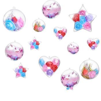 透明球空心球塑料圆球五一节店铺装饰吊球创意DIY装饰球布置吊饰
