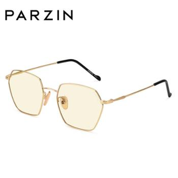 帕森新款防蓝光光学眼镜女金属方框时尚镜架男电脑护目眼镜162002
