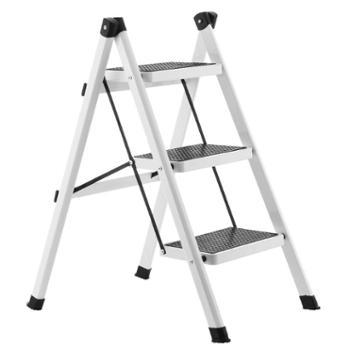 梯子家用折叠梯凳三步加厚铁管踏板室内人字梯三步梯小梯子