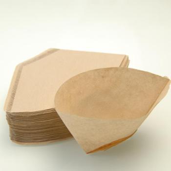 无漂白咖啡滤纸手冲咖啡壶滤杯冲杯过滤美式咖啡机滴漏纸扇形滤纸