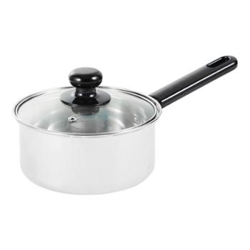 嘉士厨16cm不锈钢奶锅单柄泡面汤锅热奶宝宝辅食锅燃气电磁炉通用