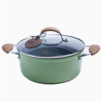 Carote麦饭石汤锅电磁炉锅煲汤炖熬汤锅不粘锅具汤锅加厚平底煮面