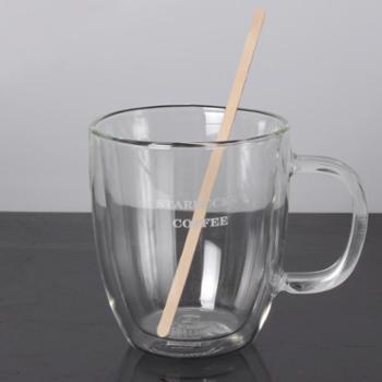 啡忆 单支独立包装咖啡搅拌棒木质棒 一次性饮料棒14 19CM100支装