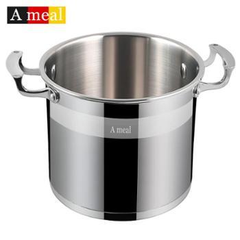 德国Ameal304不锈钢汤锅家用高汤锅加厚电磁炉通用煮面熬汤锅ins