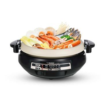 象印电热火锅PVH30C家用多功能电火锅大容量火锅多用电锅煎烤蒸煮