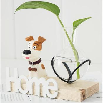 水培植物玻璃花瓶房间卧室客厅儿童房家装饰品摆设创意家居