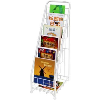 SOFSYS儿童绘本架窄书架铁艺幼儿园报刊书架简易宝宝展示架6层S