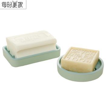 可爱卡通笑脸大号肥皂盒香皂盒 多用浴室双层沥水皂托厨房肥皂架