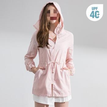 专业防晒衣女中长款户外防紫外线防晒外套长款皮肤衣服薄