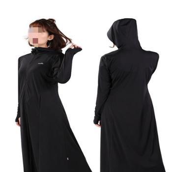 ohsunny防晒衣女中长款夏季薄款透气防晒服户外防紫外线运动风衣